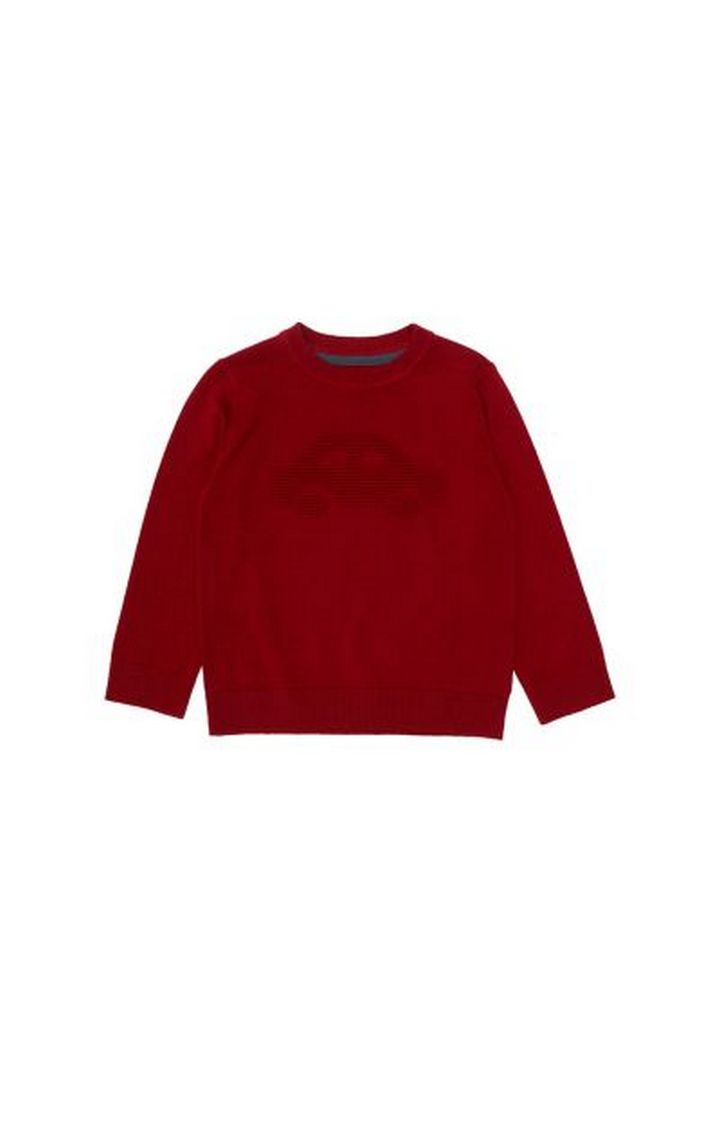 Mothercare | Red Car Knitted Jumper