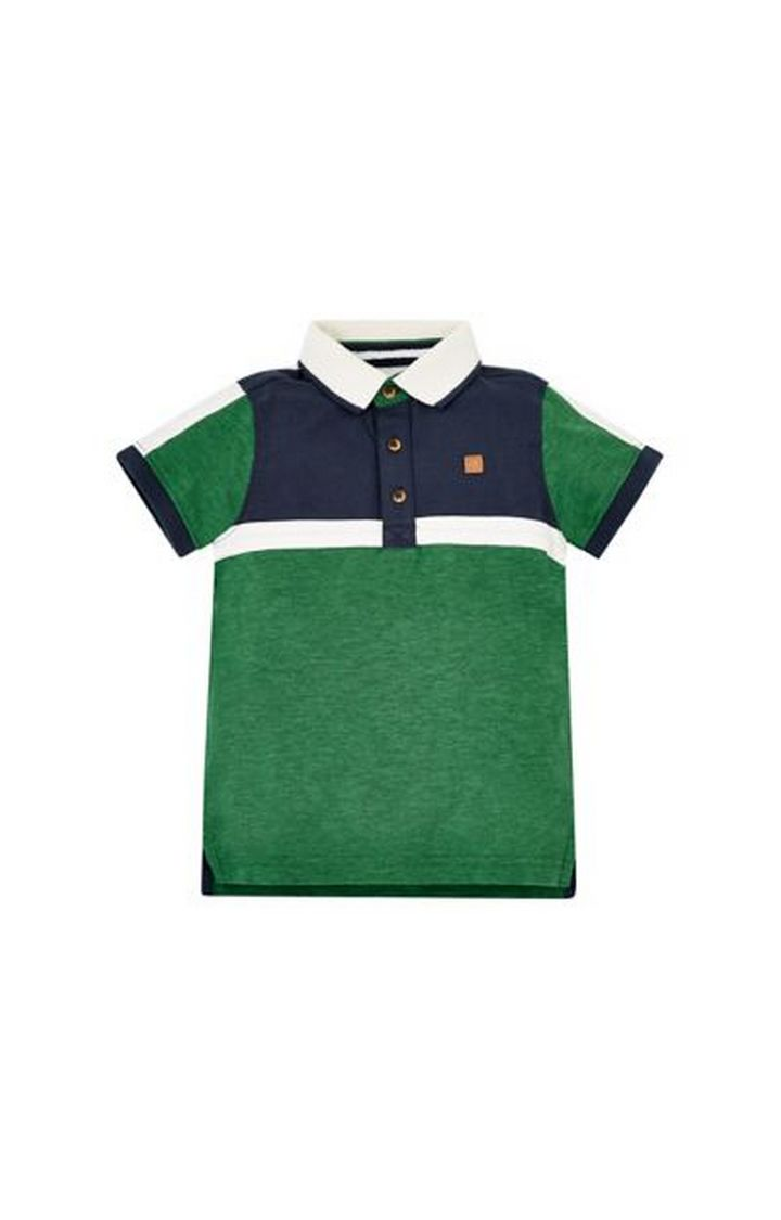 Mothercare | Green, Navy And White Polo Shirt