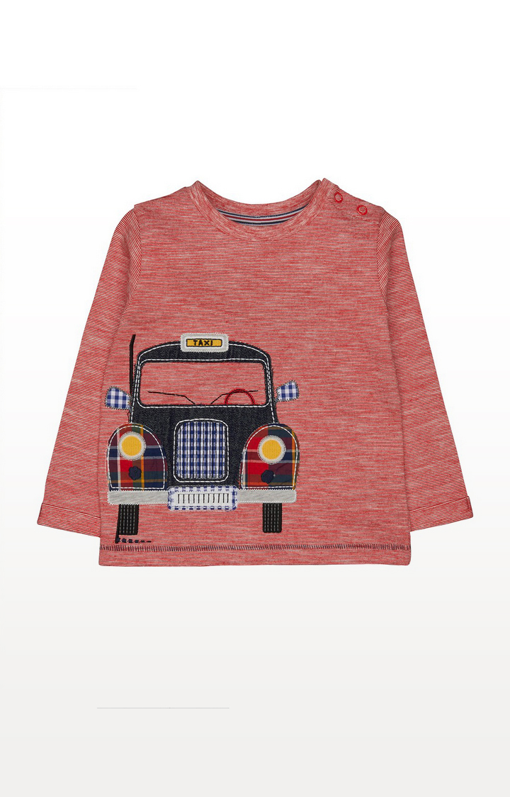 Mothercare | Red Taxi Applique T-Shirt