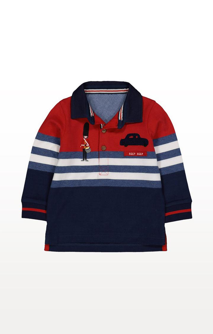 Mothercare | Little Soldier Colour Block Polo Shirt