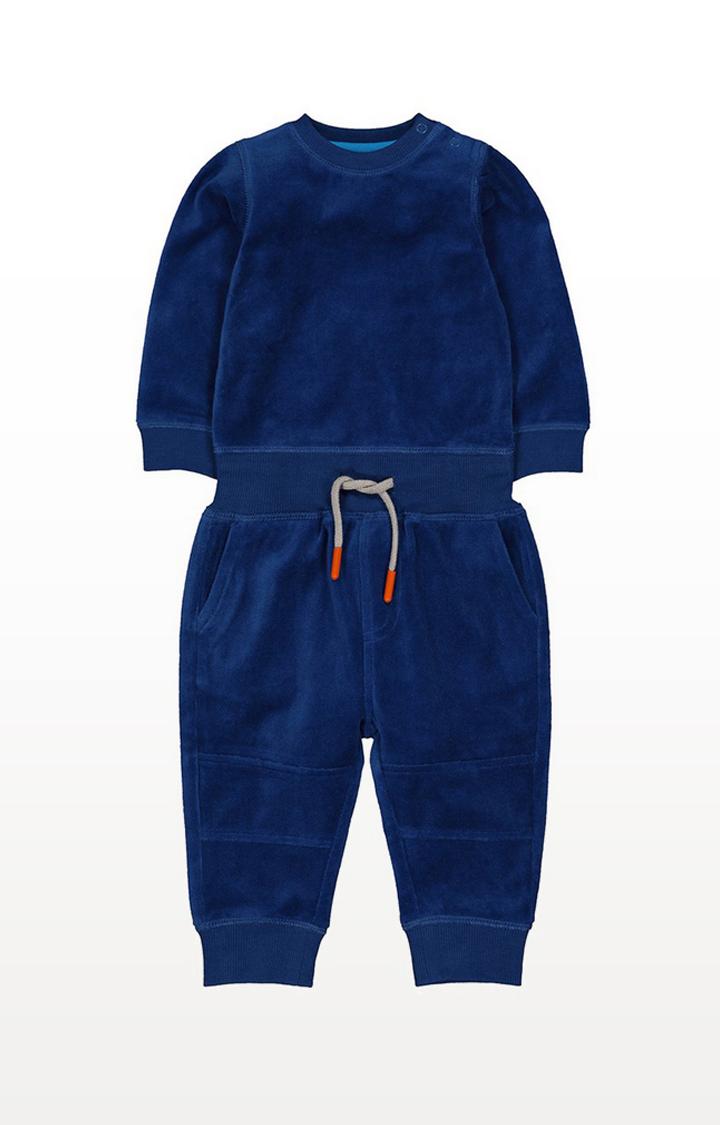 Mothercare | Blue Velour Jog Set