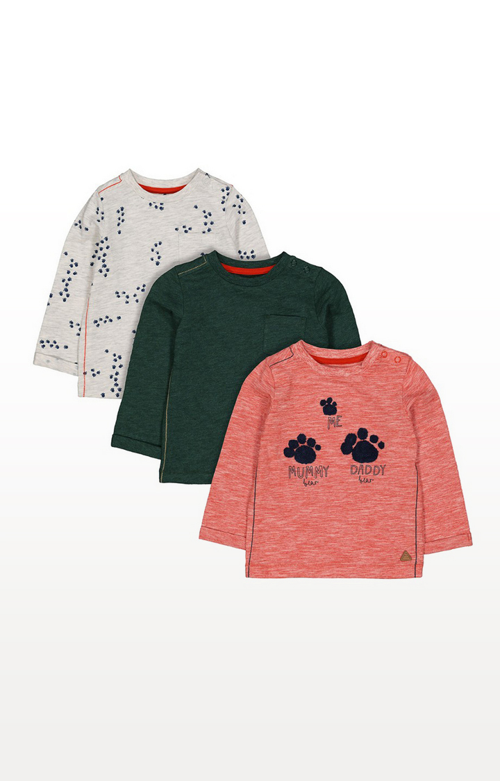 Mothercare | Paw Print T-Shirts - 3 Pack