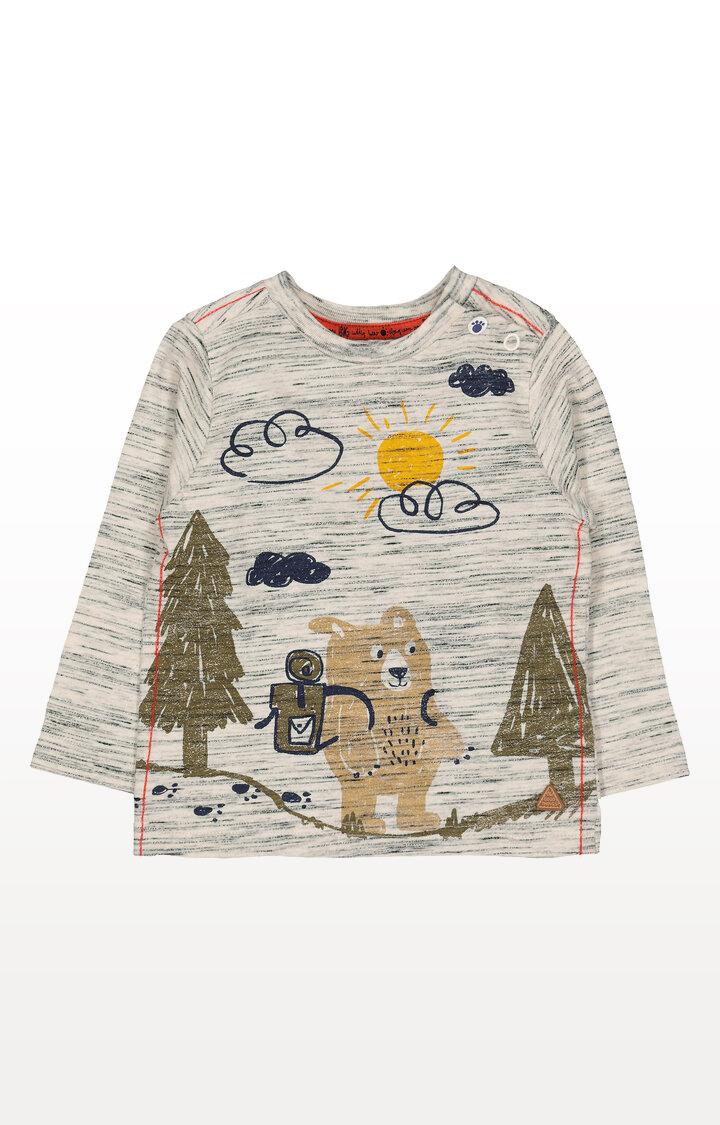 Mothercare   Oatmeal Bear Hike T-Shirt