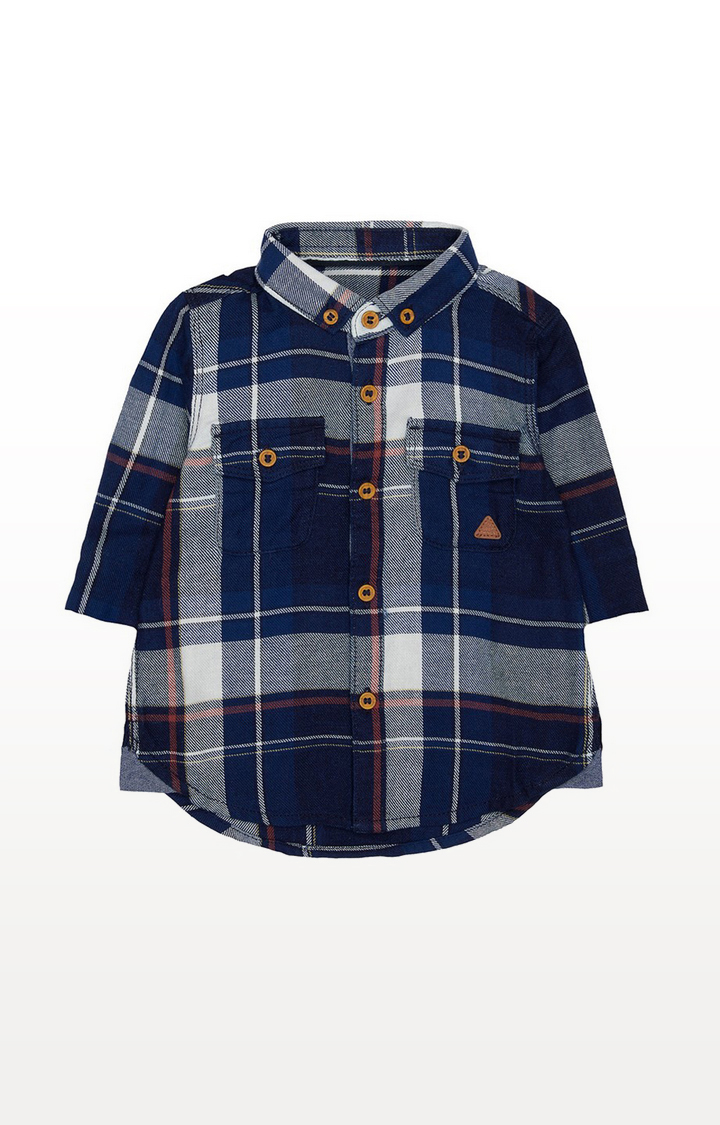 Mothercare | Blue And White Check Shirt