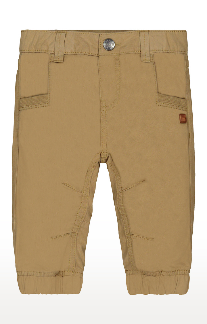 Mothercare | Tan Jersey-Lined Woven Trousers