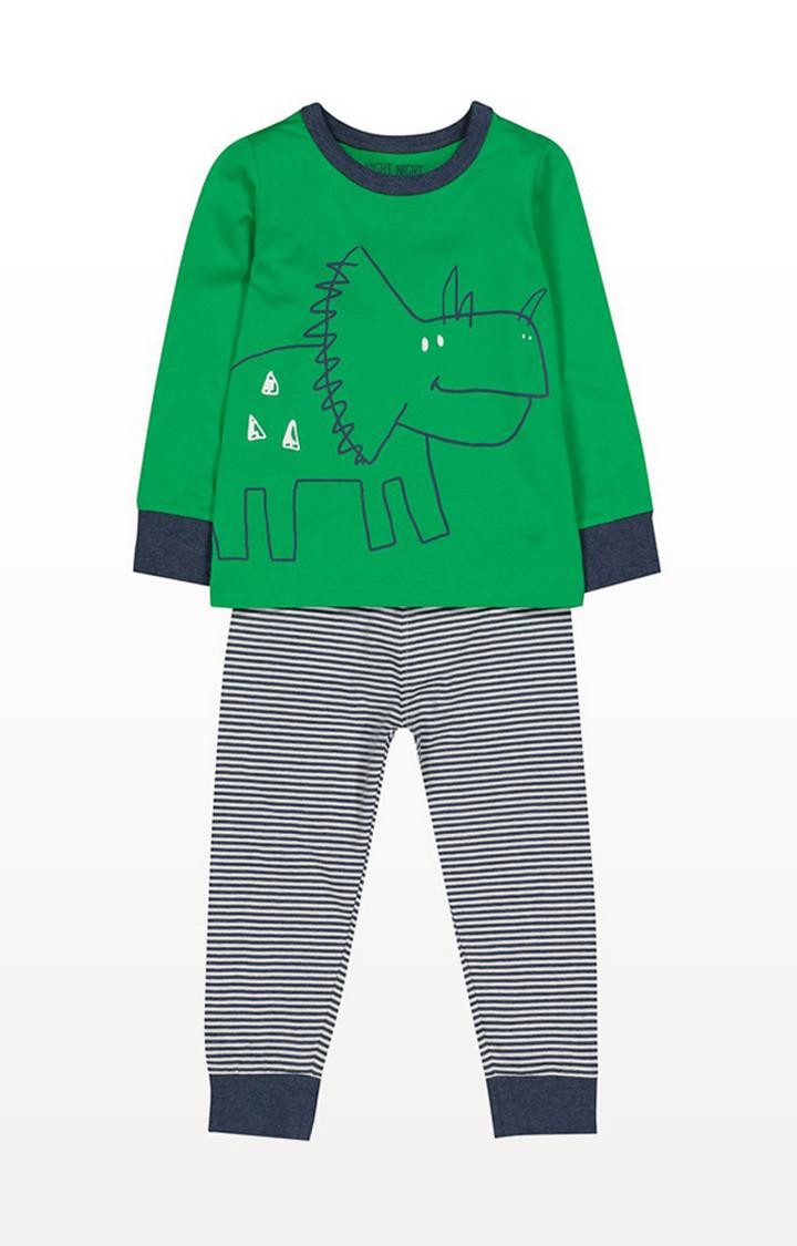 Mothercare | Green Dinosaursaur Pyjamas