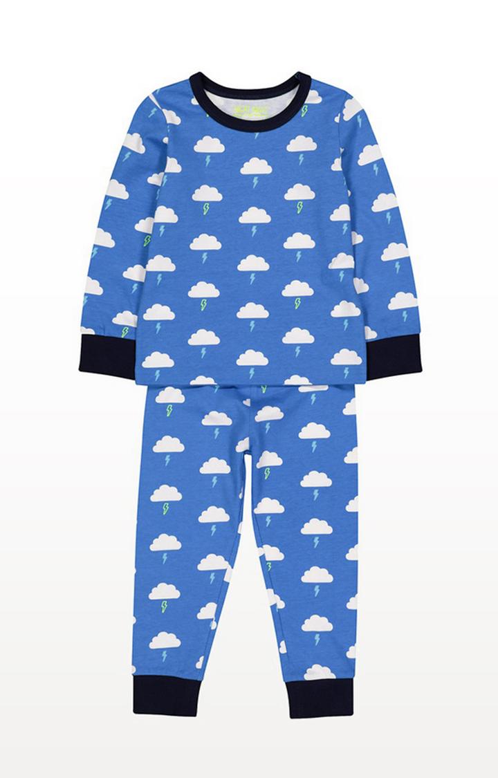 Mothercare | Blue Lightning Cloud Pyjamas