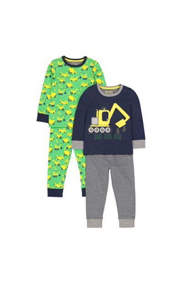 Mothercare   Digger Pyjamas - 2 Pack