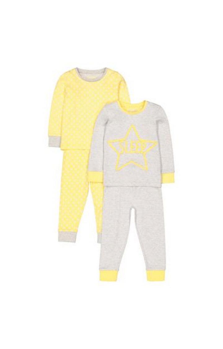 Mothercare   Yellow Star Pyjamas - 2 Pack
