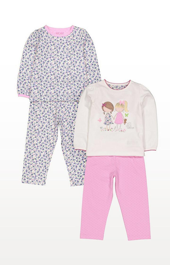 Mothercare   Pretty Girl Pyjamas - 2 Pack