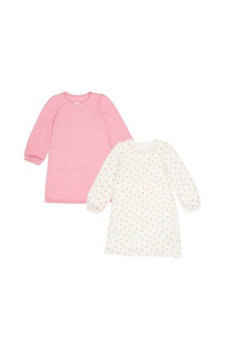 Mothercare   Pink Spotty And Floral Nightdresses - 2 Pack