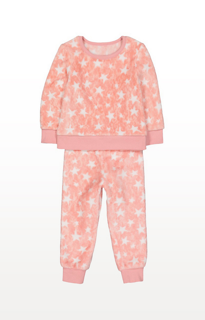 Mothercare | Pink Fluffy Star Pyjamas