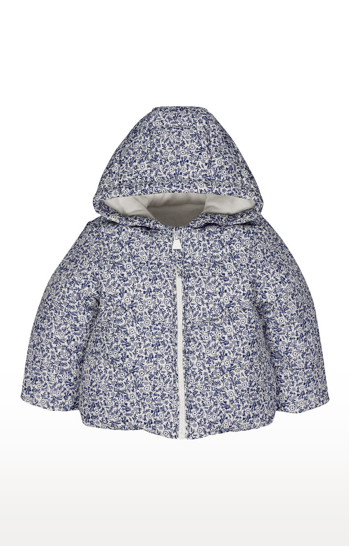 Mothercare | White Floral Fleece-Lined Jacket