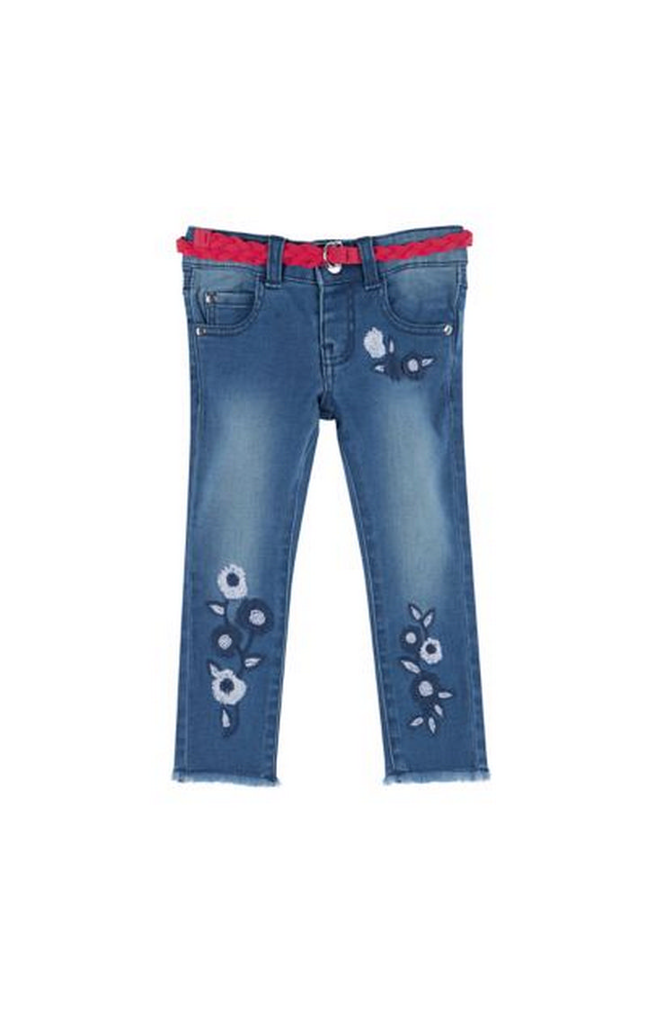 Mothercare | Floral Embroidered Denim Jeans