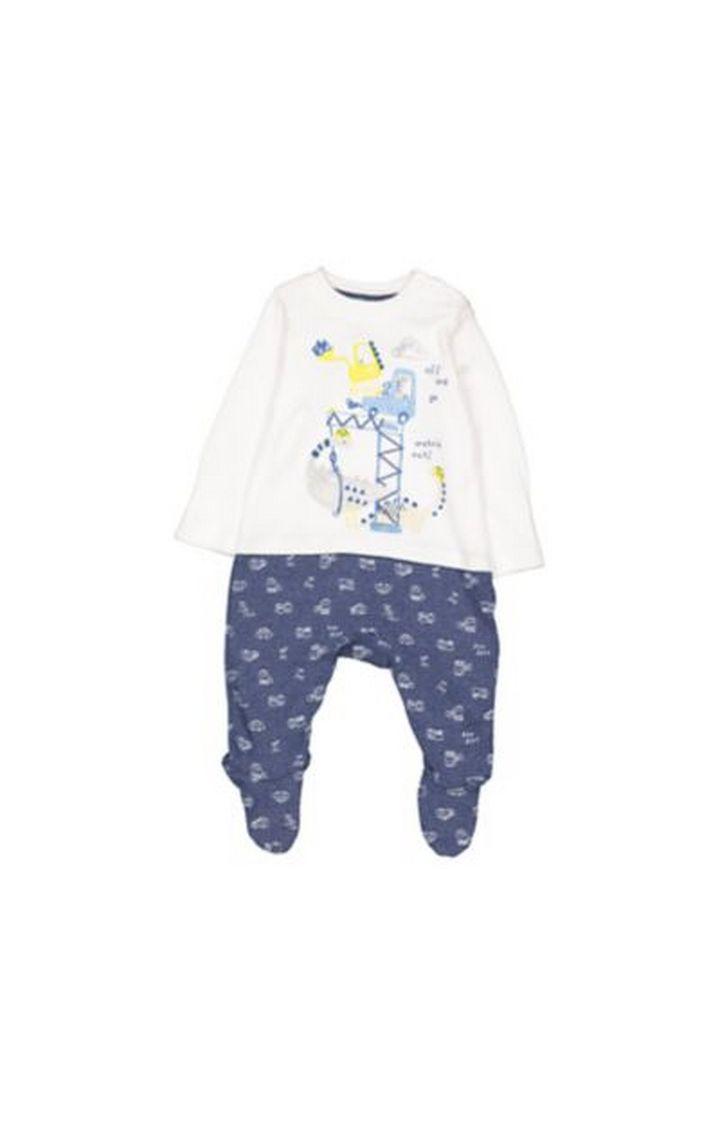 Mothercare | Little Trucks Mock T-Shirt And Leggings All In One
