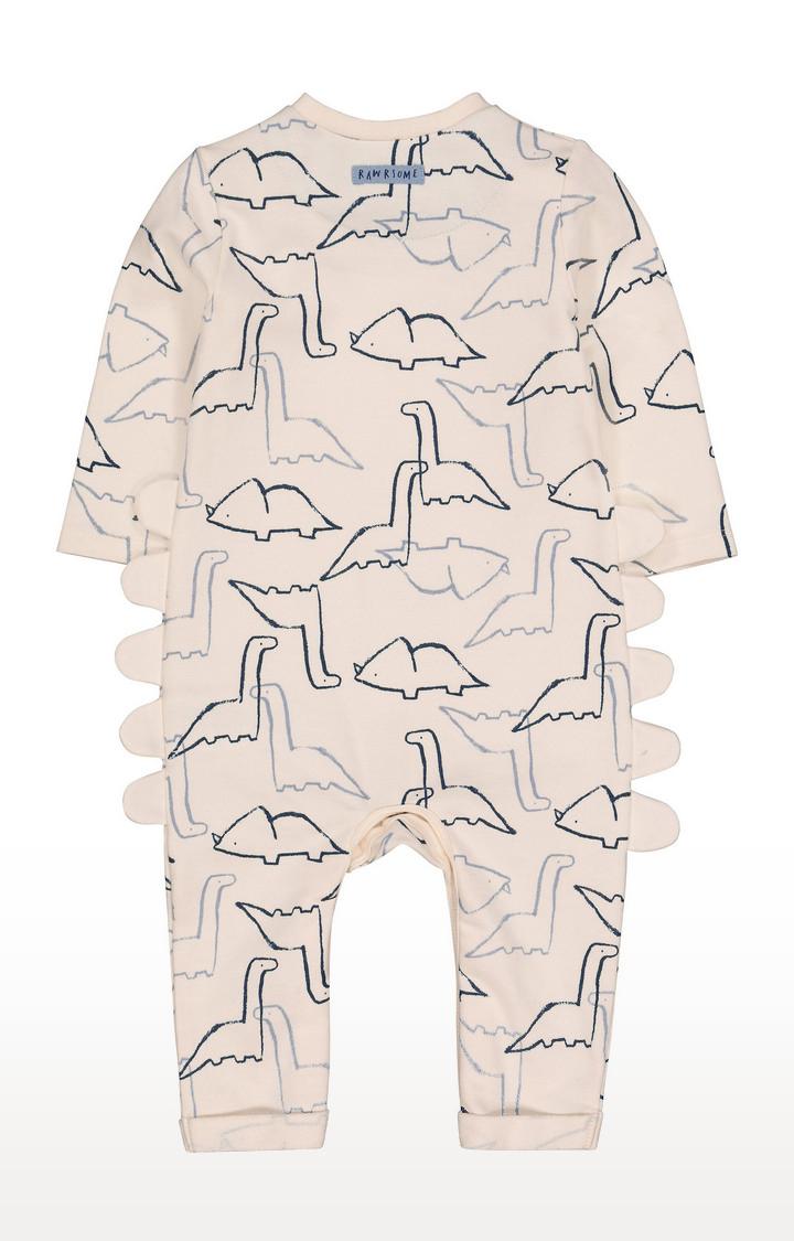 Mothercare   Cream Dinosaursaur All In One
