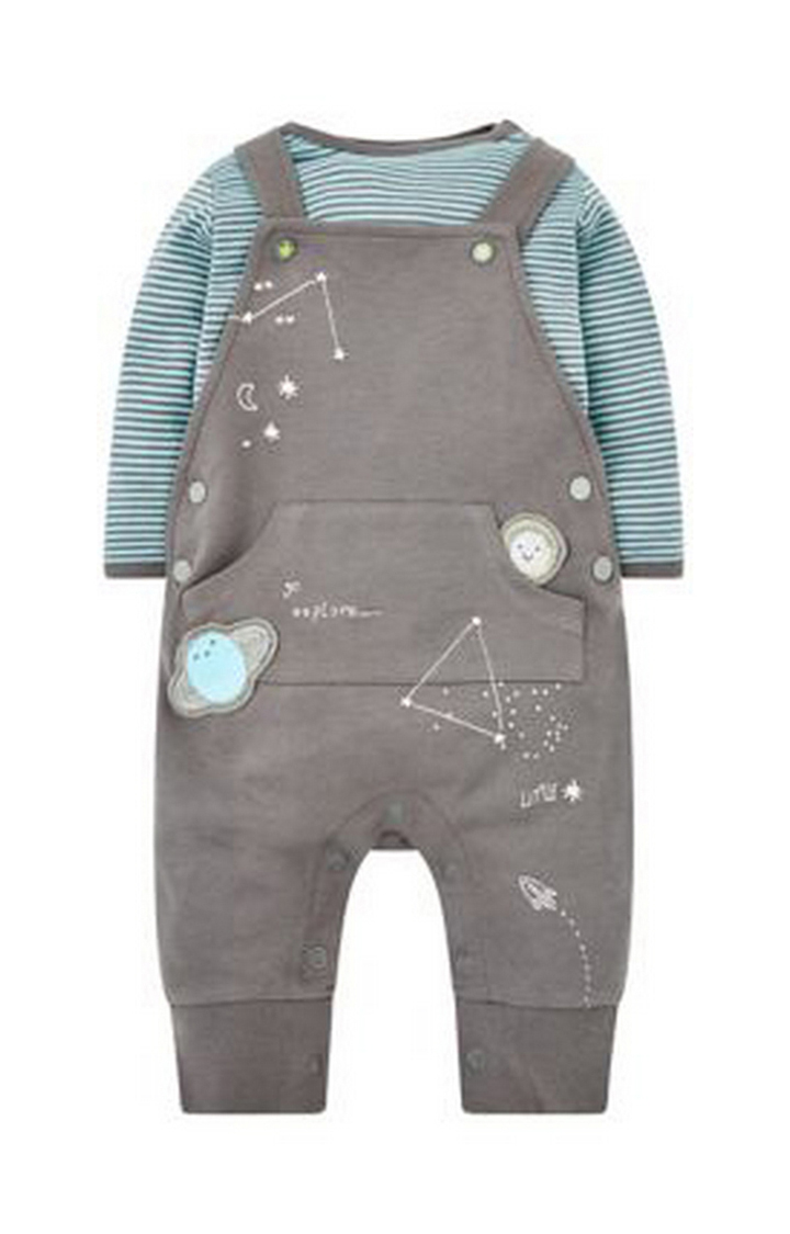 Mothercare | Little Star Dungarees And Bodysuit Set