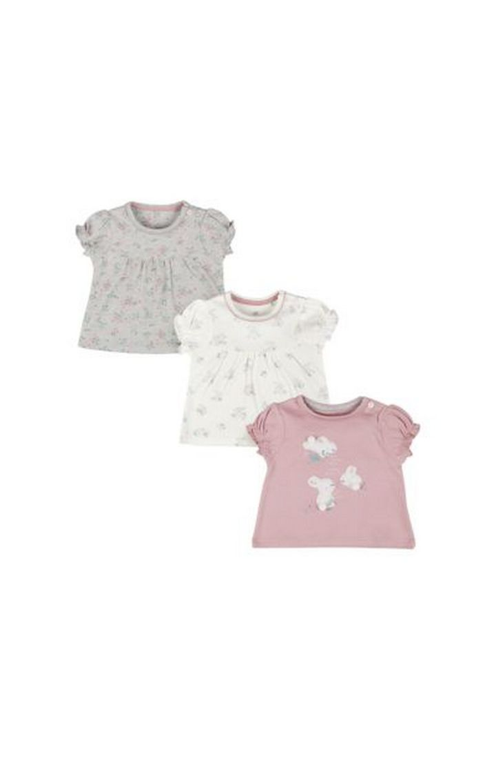 Mothercare | Pink Bunny Tops - 3 Pack