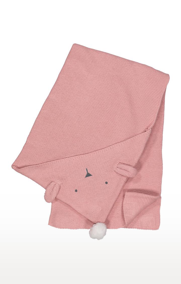 Mothercare   Pink Melange Hooded Towel