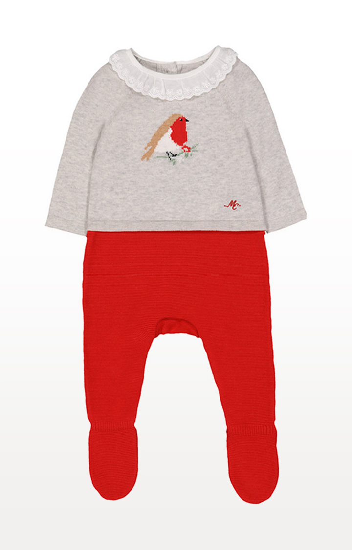 Mothercare | Heritage Robin Knitted Mock All In One