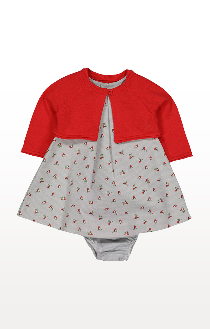 Mothercare | Heritage Robin Dress, Cardigan and Knicker Set