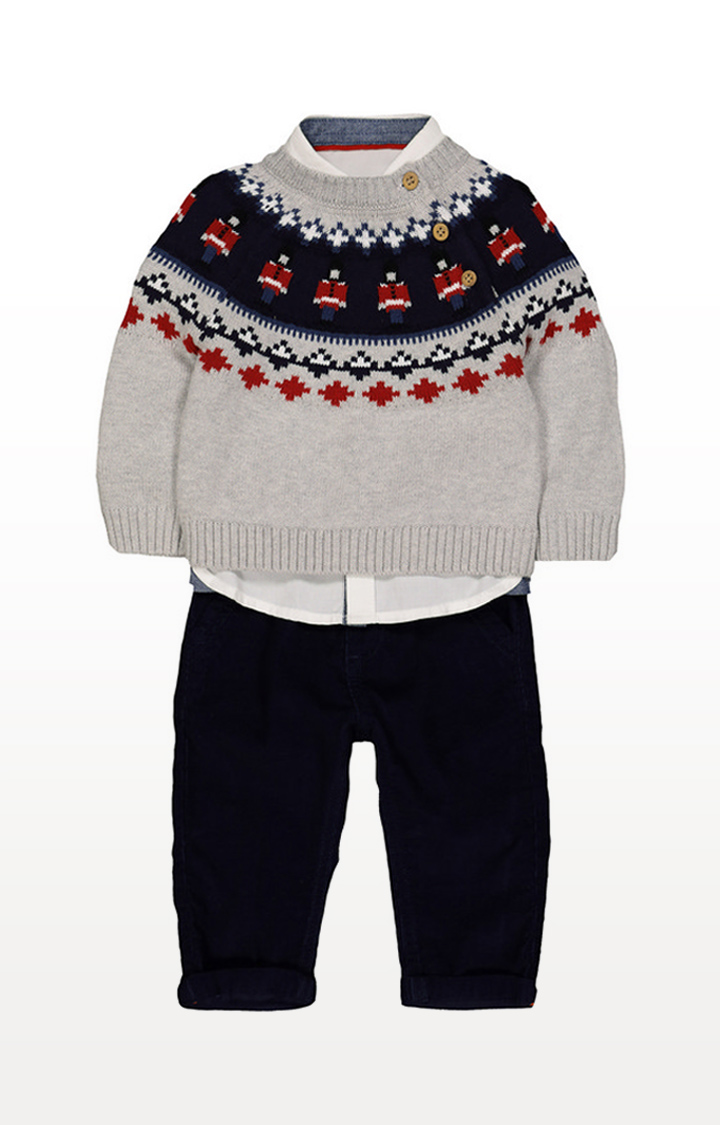 Mothercare | Trousers, Shirt And Jumper Set