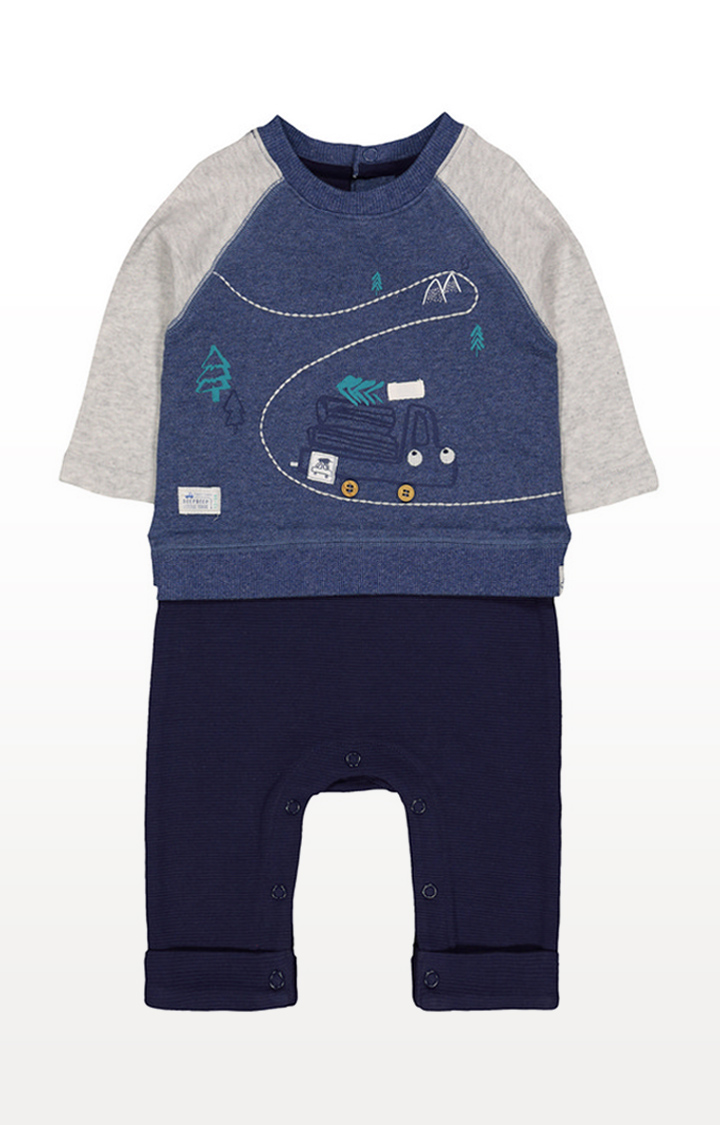Mothercare | Log Truck Mock Sweat Top All In One