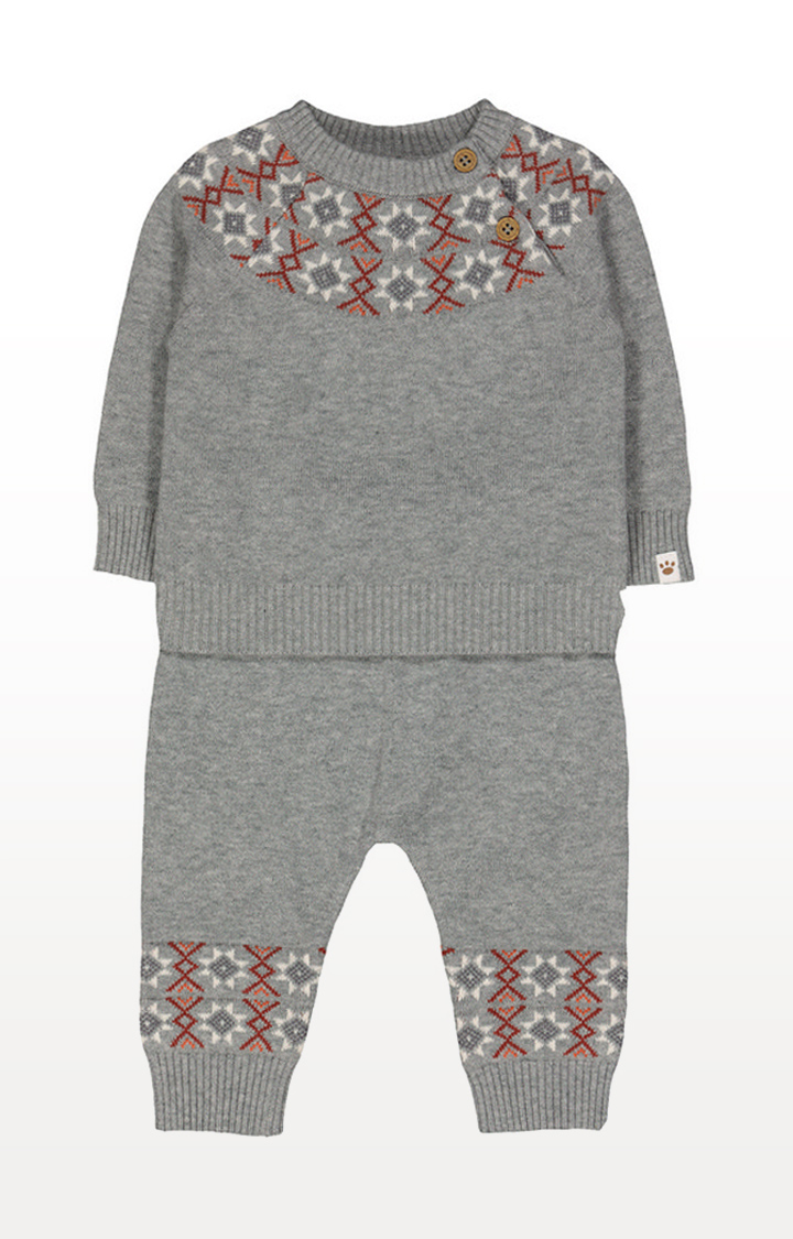 Mothercare | Grey Fairisle 2 Piece Set