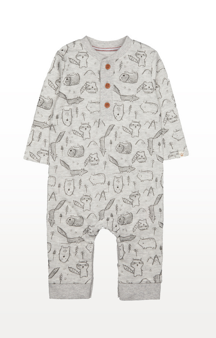 Mothercare | Grey Printed All In One