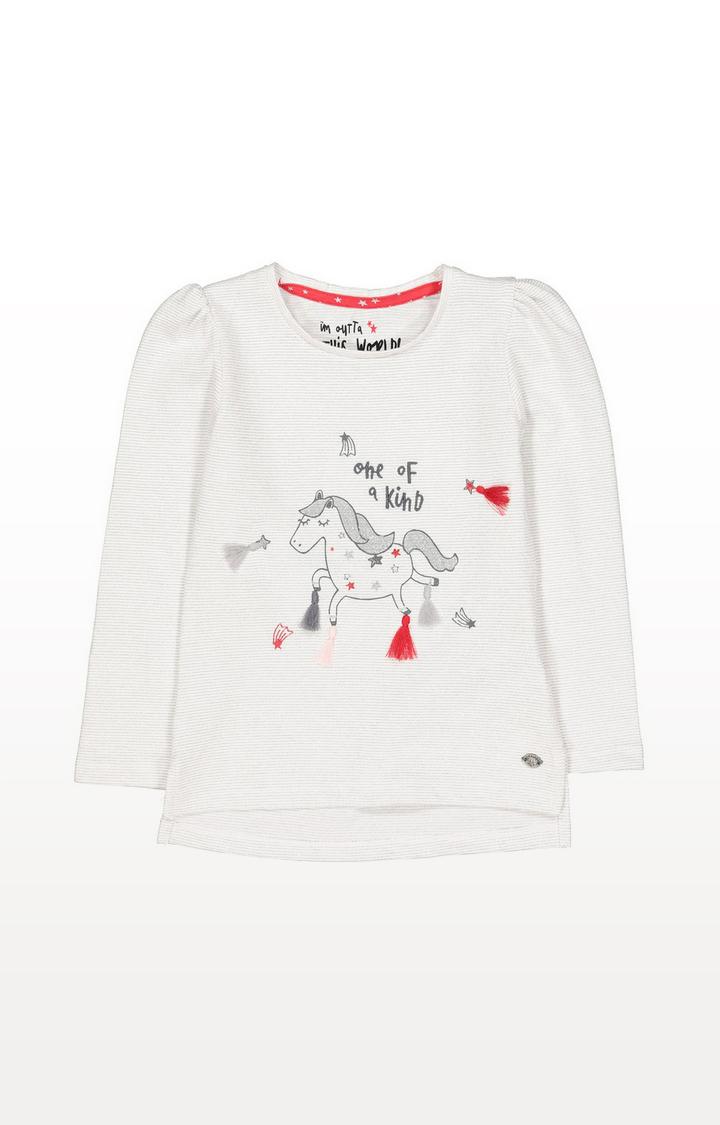 Mothercare   Unicorn Stripe T-Shirt