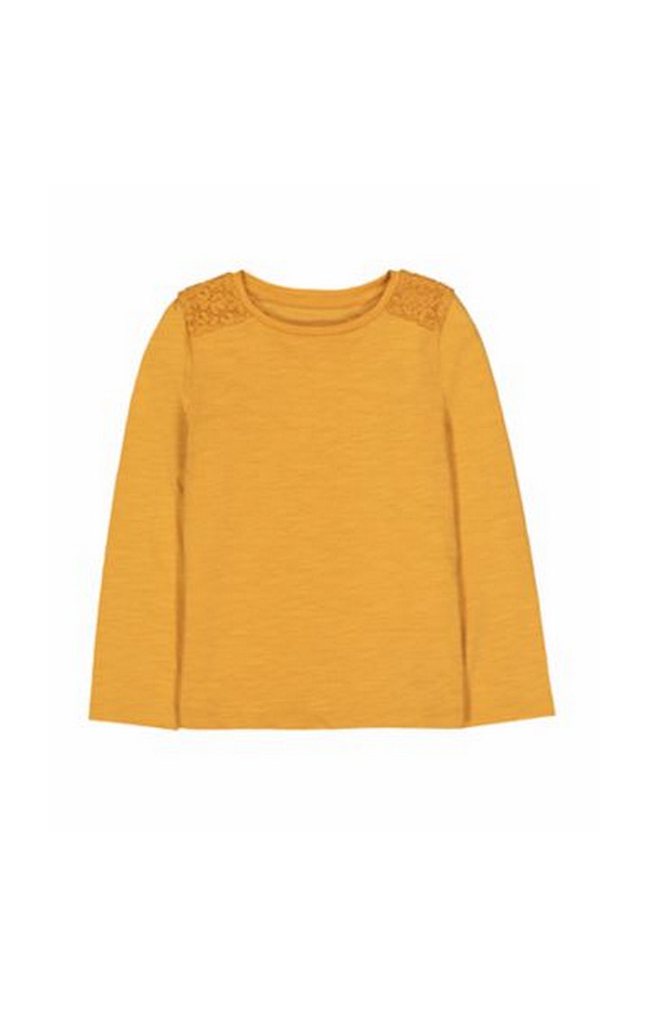 Mothercare   Mustard Crochet Shoulder T-Shirt