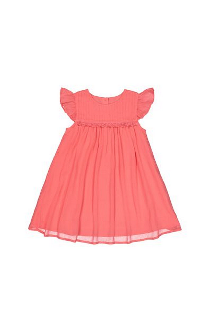 Mothercare | Coral Chiffon Dress