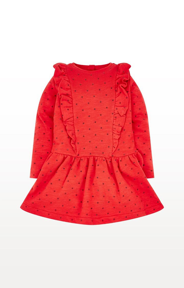 Mothercare | Red Spot Drop-Waist Dress