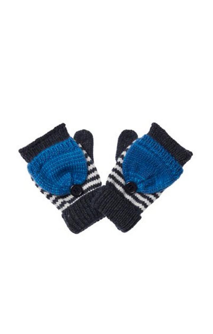 Mothercare | Blue Stripe Converter Gloves