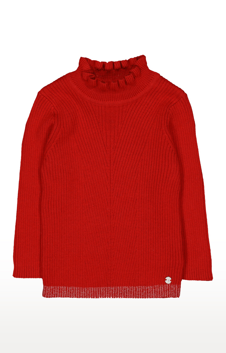 Mothercare   Red Frill Neck Top