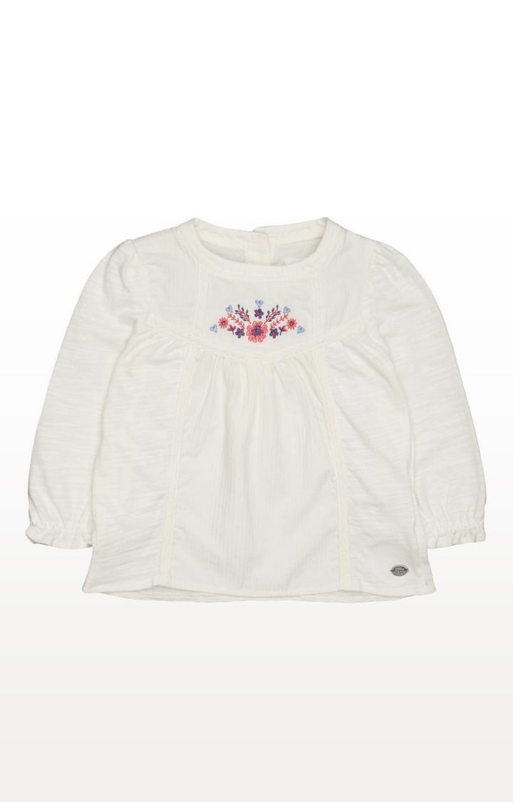 Mothercare | Cream Floral Crochet Blouse