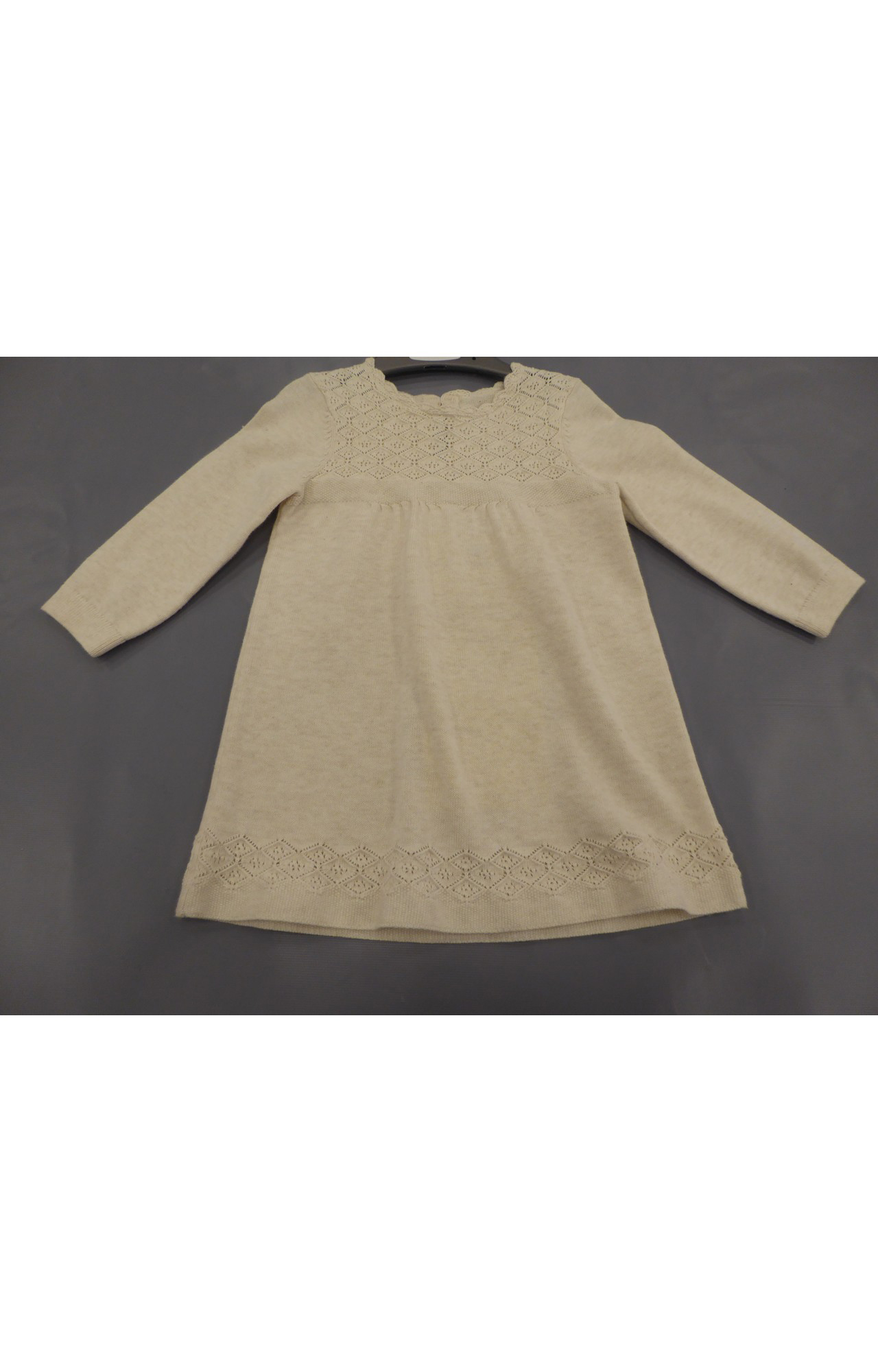Mothercare   Oatmeal Knitted Pointelle Dress