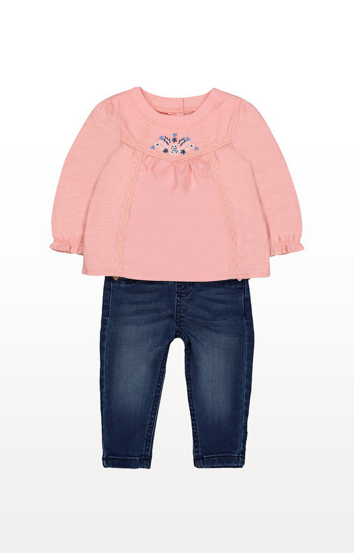 Mothercare | Coral Blouse And Jeggings Set