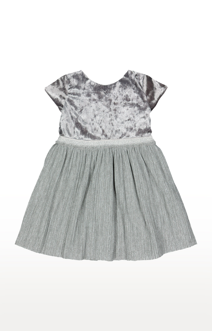 Mothercare | Silver Solid Frock
