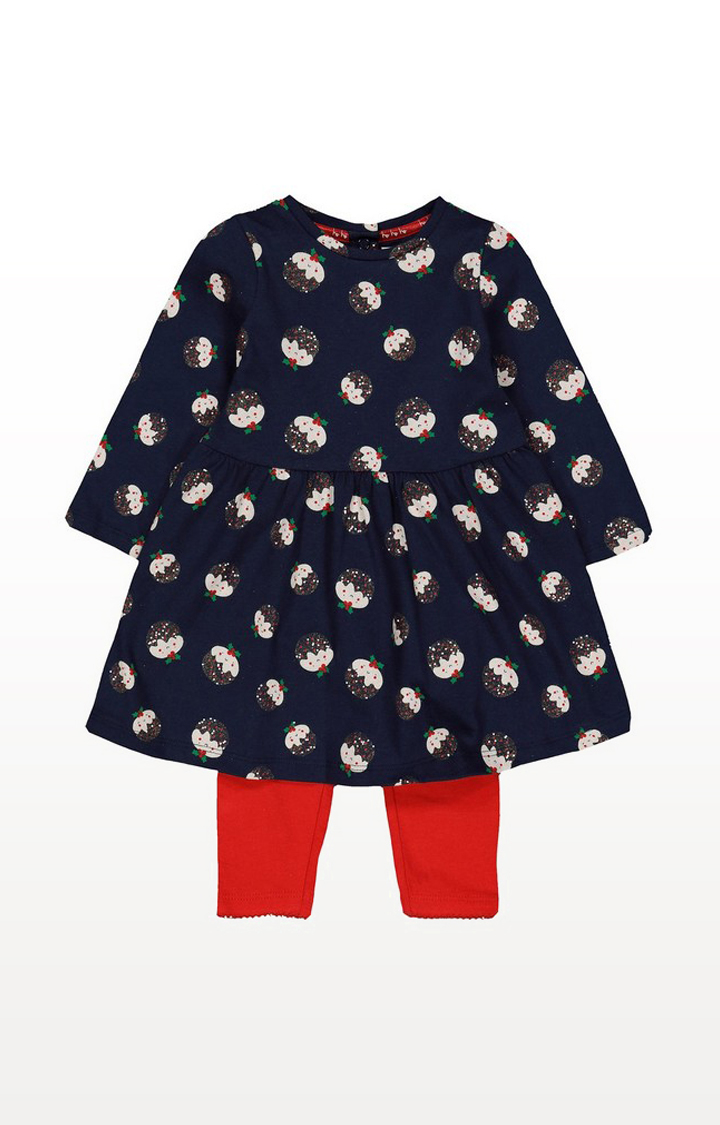 Mothercare | Christmas Pudding Dress And Leggings Set