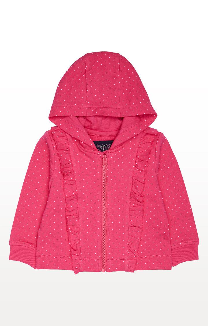 Mothercare   Pink Printed Hoodies