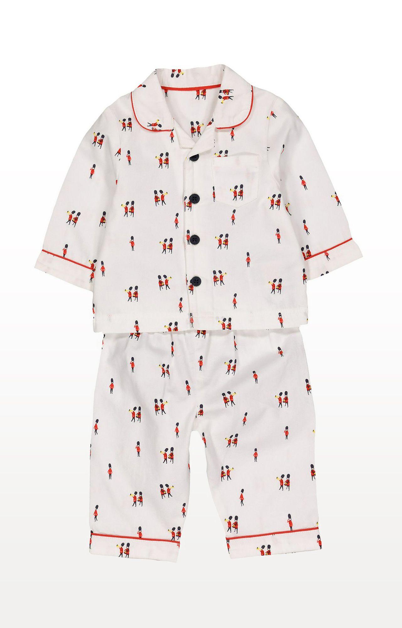 Mothercare | White Printed Toy Soldier Pyjamas
