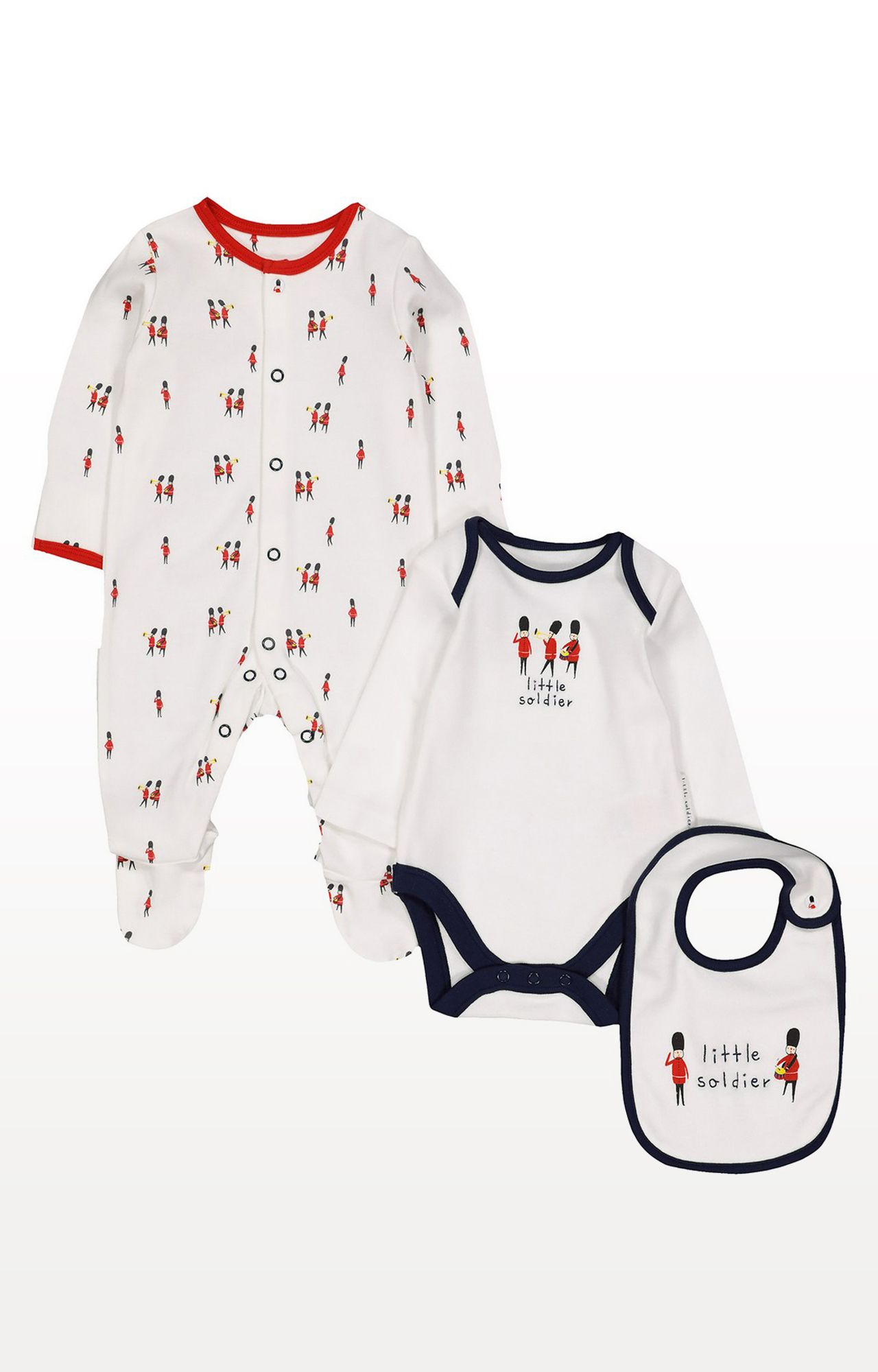 Mothercare | Multicoloured Printed Soldier 3 Piece Set