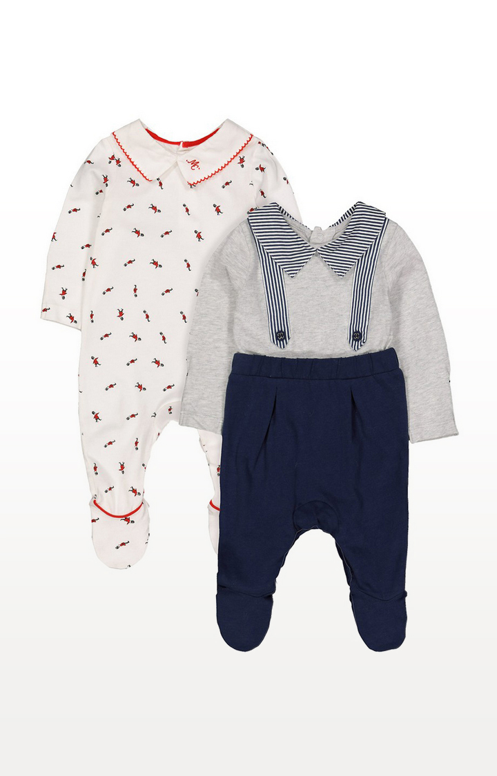 Mothercare | Soldier Sleepsuits - 2 Pack