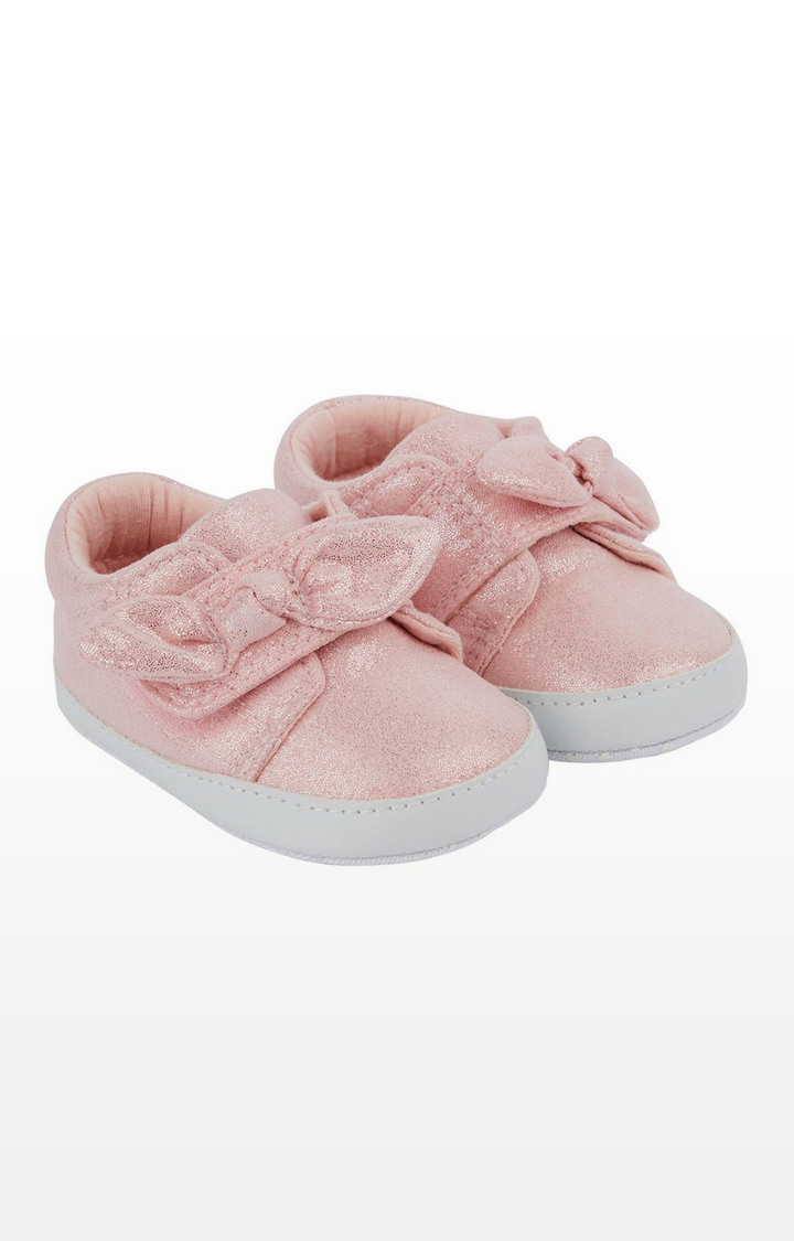 Mothercare | Pink Sparkle Bow Trainers