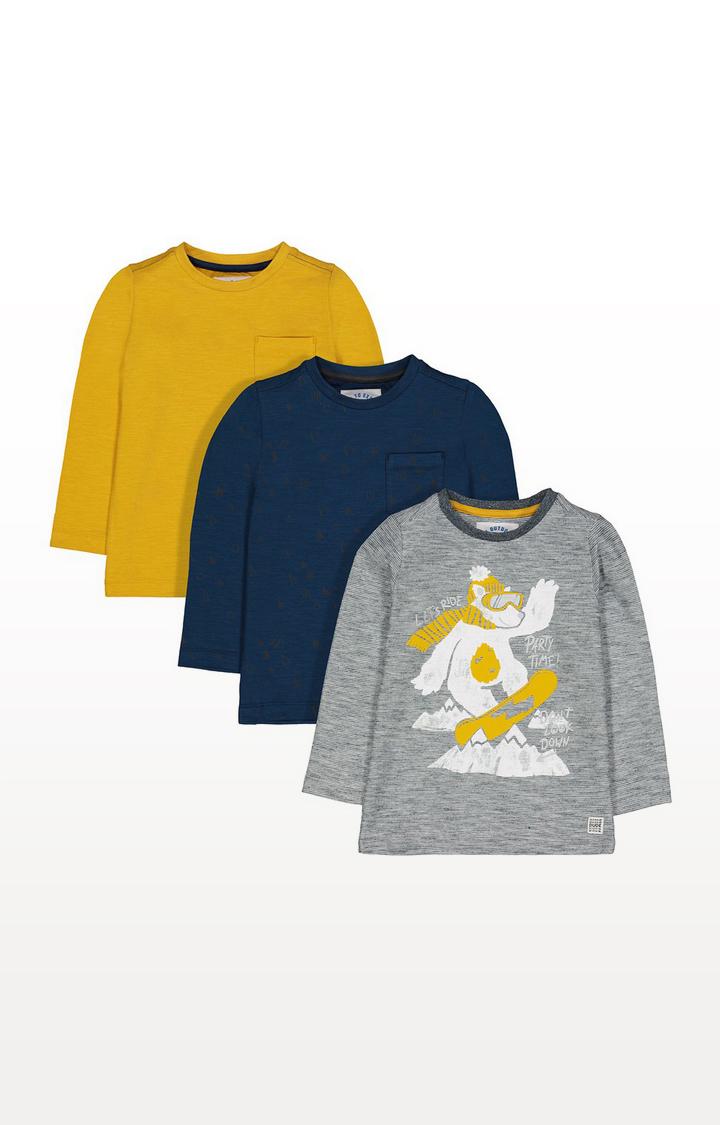 Mothercare | Snowboarding Polar Bear T-Shirts - 3 Pack