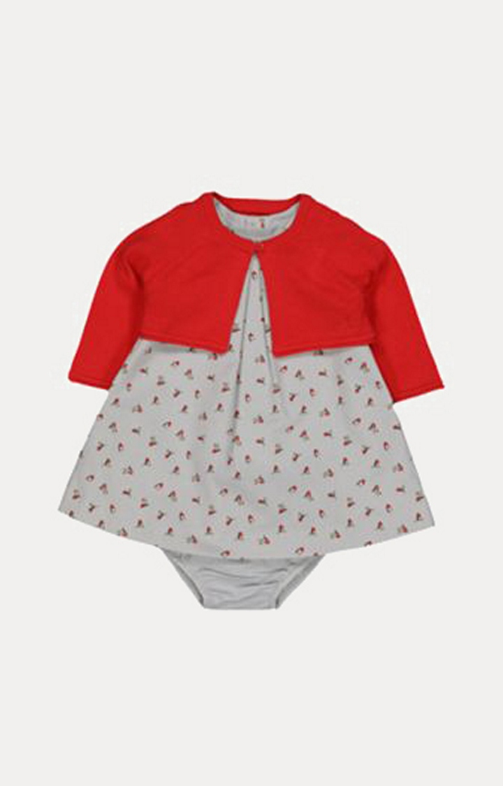 Mothercare | Grey and Red Printed Twin Set