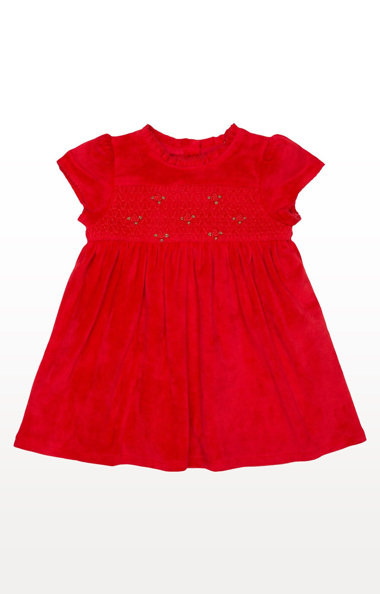 Mothercare | Red Velvet Floral Dress
