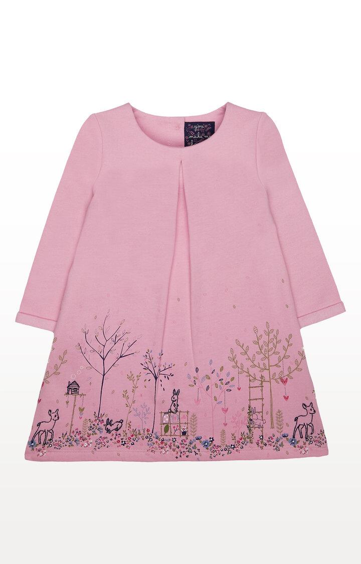 Mothercare | Pink Garden Border Sweat Dress