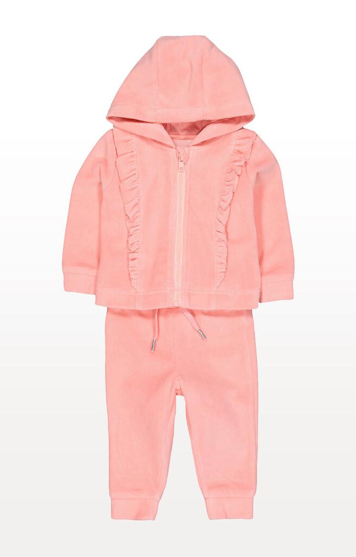 Mothercare | Pink Velour Jog Set